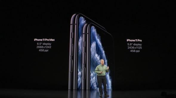 iPhone 11 Pro Max(左)とiPhone 11 Pro(右)