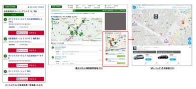 「PC-NAVITIME」「NAVITIME」スマートフォン向けサイトがNTTドコモの「dカーシェア」と連携