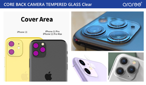 iPhone 11/11 Pro/11 Pro Max専用保護ガラスフィルム「CORE BACK CAMERA TEMPERED GLASS Clear