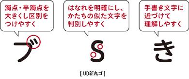 ジャパネットたかたで販売開始する「arrows J」の「UD新丸ゴ」イメージ