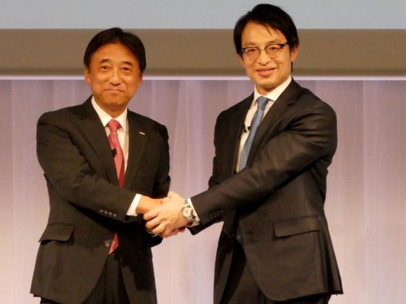 吉澤社長とチャン社長