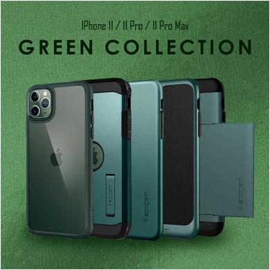 SpigenがiPhone 11/11 Pro/11 Pro Maxの「ミッドナイトグリーン」向けケースを発売