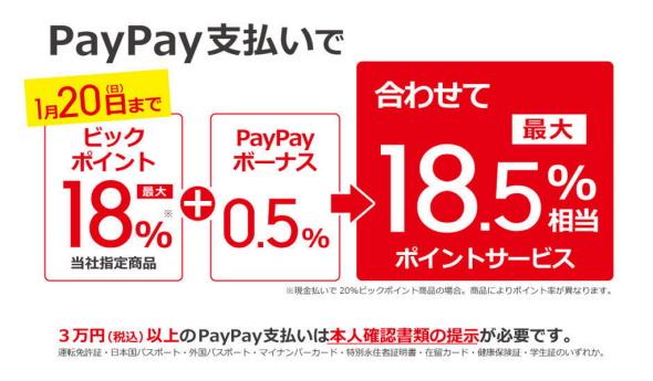 量販店PayPay祭り