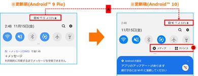 「Galaxy S10 SCV41」「Galaxy S10+ SCV42」でのクイックパネルの変更