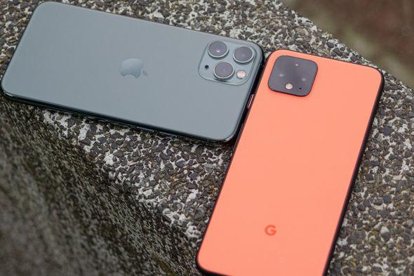 iPhone 11 ProとPixel 4
