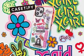 「X-girl」と「CASETiFY」のコラボiPhoneケース