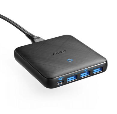 卓上式USB急速充電器「Anker PowerPort Atom lll Slim(Four Ports)」