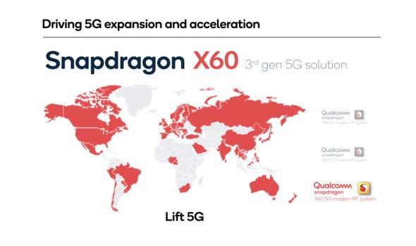 X60がサポートする地域