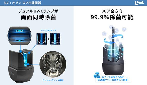 スマホ除菌器「UV+オゾン」