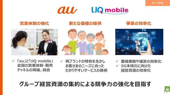 UQ mobile統合へ
