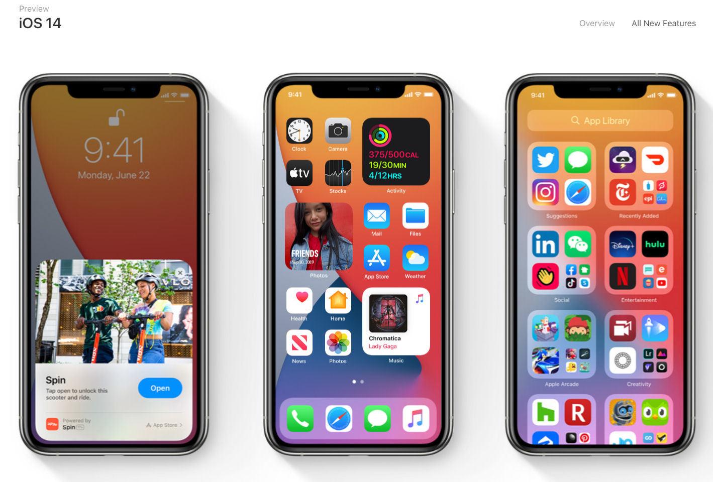 iOS 14」発表 ホーム画面の自動整理やウィジェット配置 オフラインで ...
