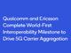 QualcommとEricsson、5Gキャリアアグリゲーションの相互運用性テストを完了