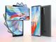 LG、2枚重ね画面端末「WING」発表 上のディスプレイを90度回転させて十字に