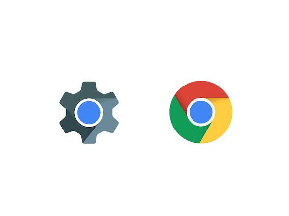 WebViewとChromeのアイコン