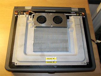 ノートPC用水冷モジュールの試作機