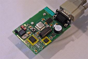 加速度センサーのテスト回路基板