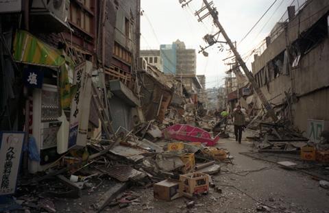 阪神・淡路大震災後の街の様子