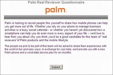 Palm Preを無料で提供――Palmがレビュアー募集キャンペーン