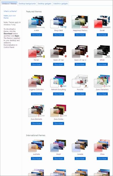 Windows Personalization Gallery