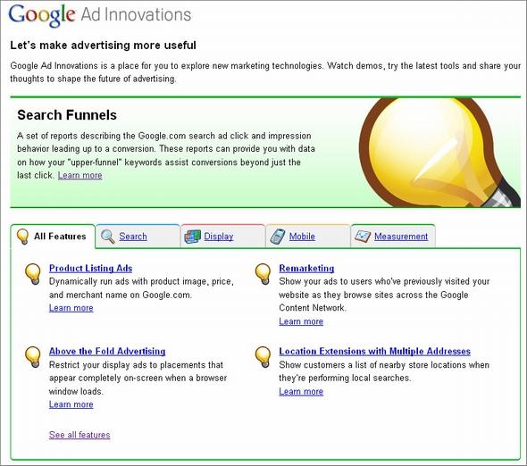 google ad innovations