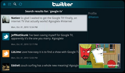 Twitter for Google TV