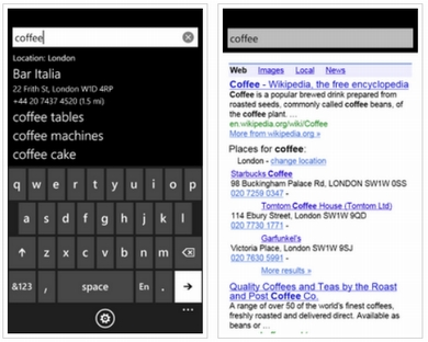 Google Search app for Windows Phone 7