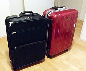 ビジネスっぽい場所に行くときは、黒色のスーツケースを選ぶ