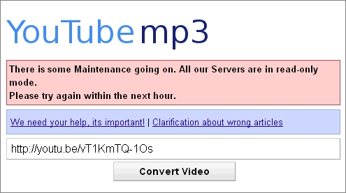 Youtube を mp3 に 変換