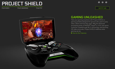 2013 International CES:NVIDIA、Android携帯ゲーム機「Project SHIELD」発表 PCゲームも手元で