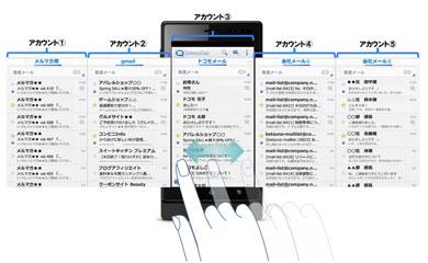 ドコモメール対応マルチアカウントメーラー「CommuniCase」公開 IMAP対応