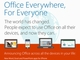 Microsoft Office��iPad�^iPhone�^Android�ł̕ҏW�@�\�������iOffice 365����Ȃ��j��