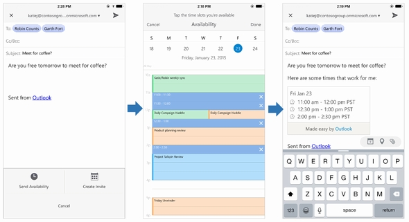 view shared outlook calendar on iphone iosおよびandroid版 microsoft outlook アプリ登場 gmailとicloudもサポート 19525