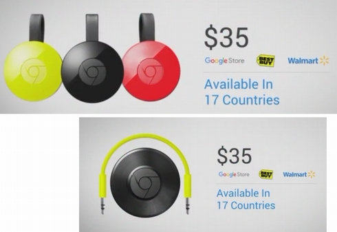 新しいChromecastとChromecast Audio
