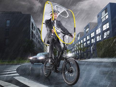 雨の日も快適なサイクリングを——スイス発・自転車用雨よけシールド「dryve」