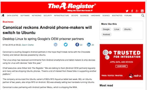 Android端末メーカーがUbuntuに関心? - ITmedia ニュース