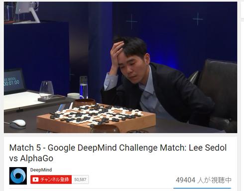 AlphaGo、4勝1敗で勝ち越し 最終...