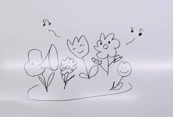 しゃべるお花