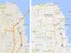 Googleマップ、道路の輪郭廃除などのデザイン変更でより見やすく 配色も変更