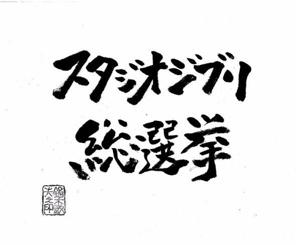 スタジオジブリ総選挙
