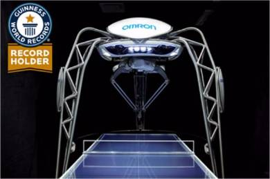 オムロンの卓球ロボット「フォルフェウス」
