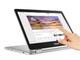 ASUS、360度ヒンジでAndroidアプリも(もうすぐ)使える「Chromebook Flip C302CA」