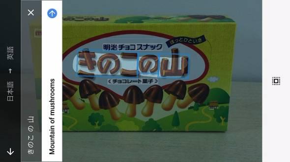 Googleリアルタイムカメラ翻訳