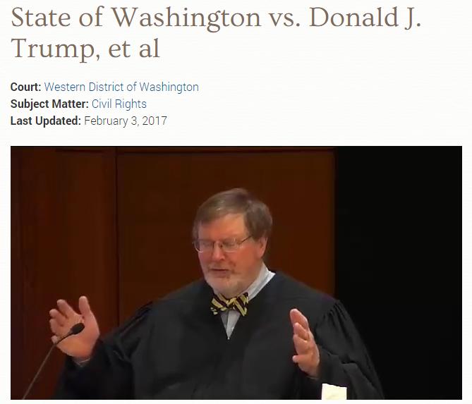 移民規制の大統領令に地裁判事が差し止め命令 トランプ氏は「ひどい決定」とツイート