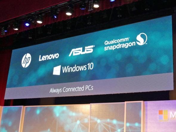HP、Lenovo、ASUSはSnapdragon 835搭載のAlways Connected PCを発売予定