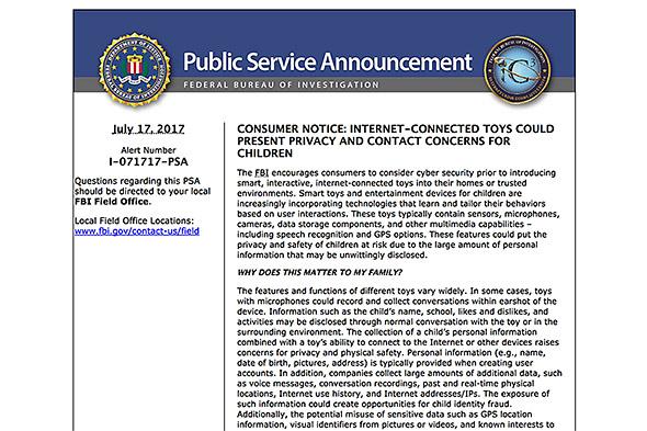 FBIの勧告