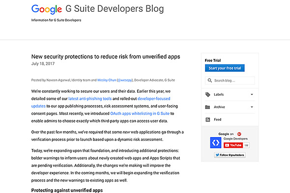 G Suite Developers Blog