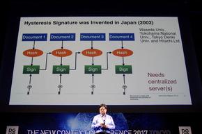 早稲田大学などの、電子署名を加えて鎖状につなげる技術