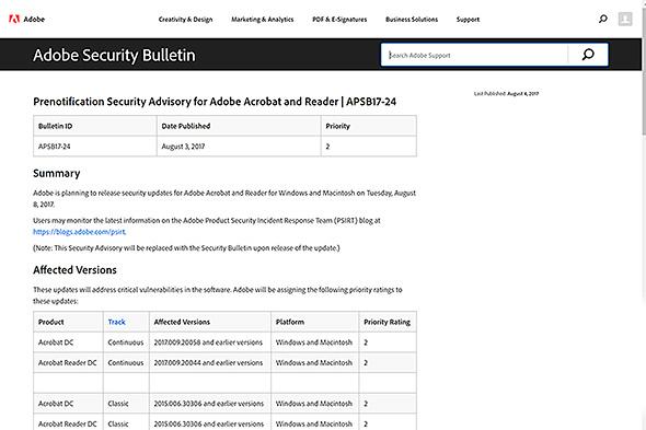 Adobe Security Bulletin