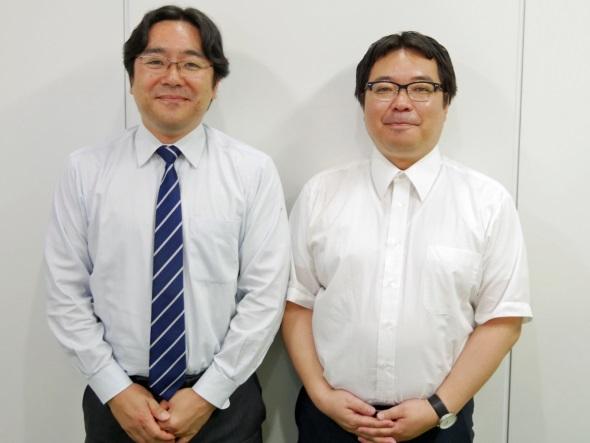 電縁の石原玲一取締役とJBAの樋田桂一事務局長