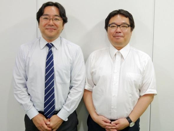 電縁の石原玲一取締役(左)とJBAの樋田桂一事務局長(右)